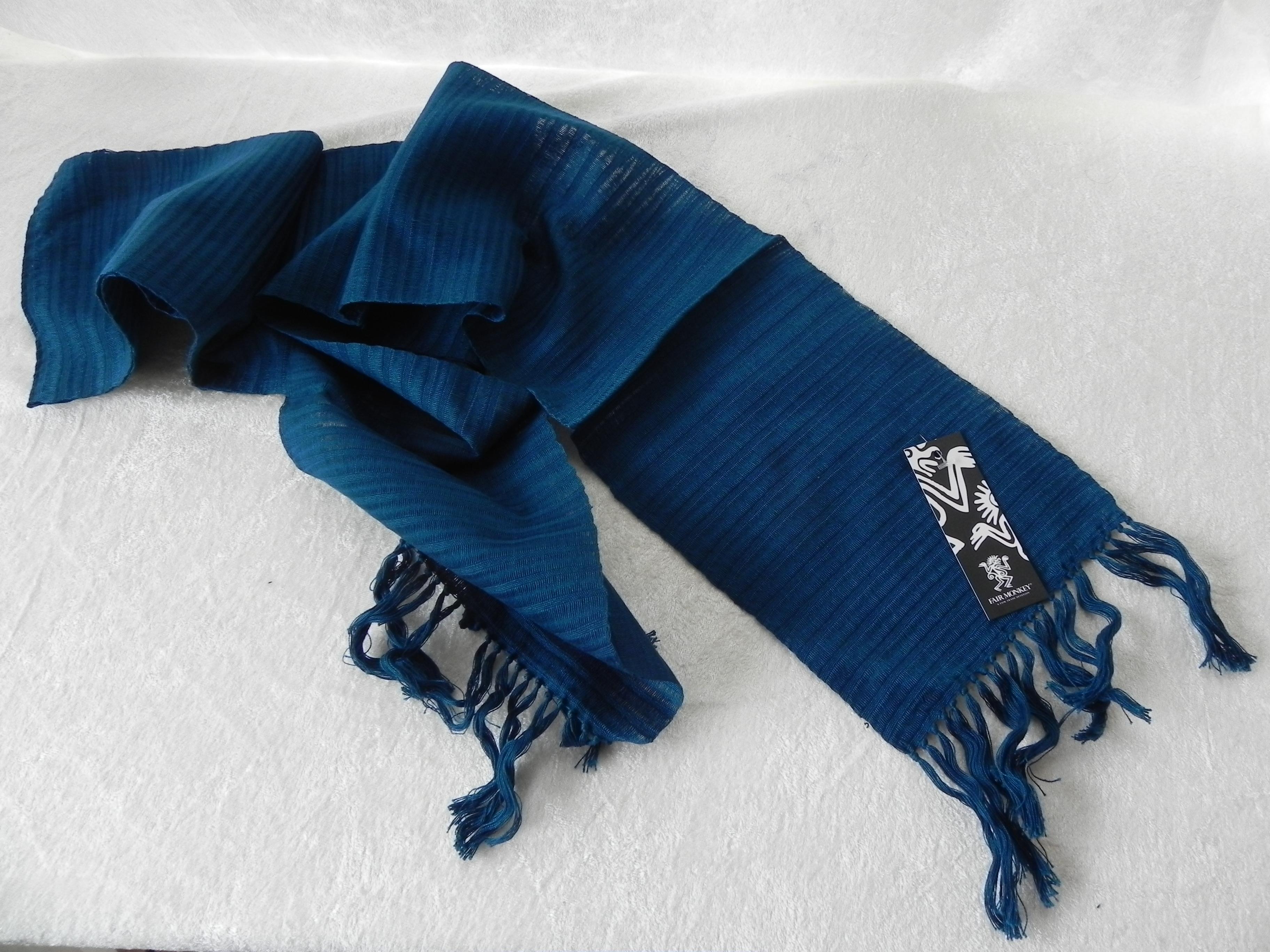 Ekoblomma sjal – Röd Bomullsscarf 806af72bf0376